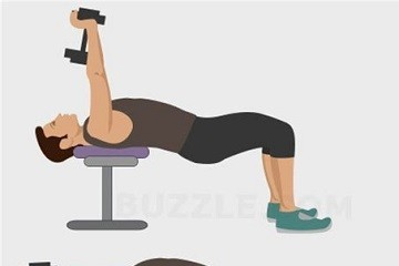 仰卧屈臂上拉-锻炼胸肌