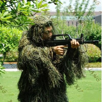丛林毛丝伪装服三件套 户外吉利服套装伪装服大批量现货