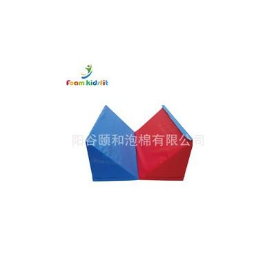 幼儿园家庭用软包对折三角垫 大尺寸折叠长方体厂家定做环保材质