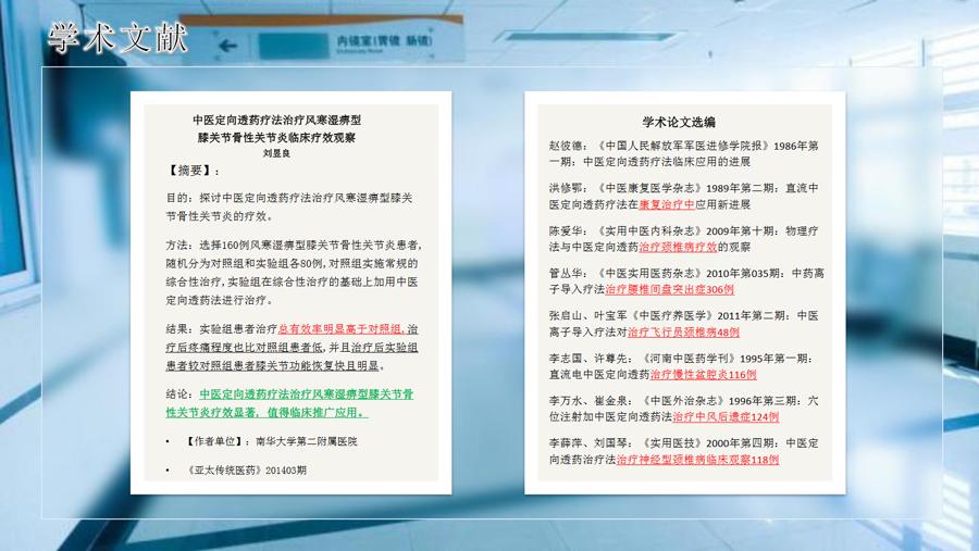 中医定向透药治疗系统学术文献