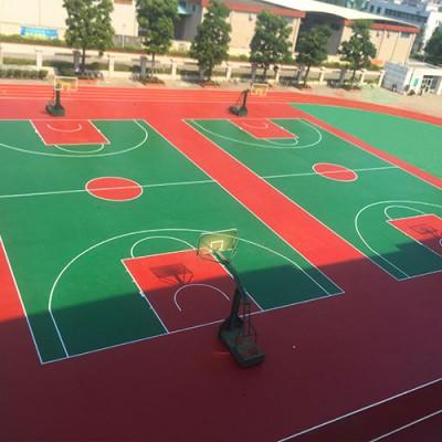 塑胶篮球场面层硅PU 南宁有工厂生产硅PU材料 康奇体育