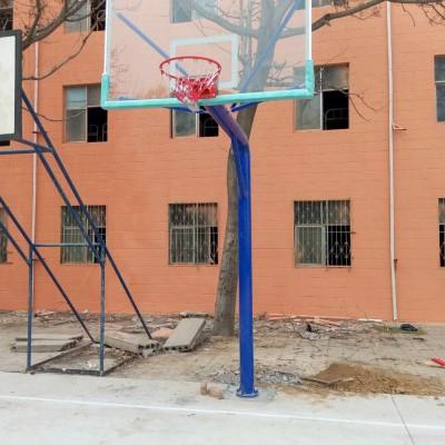 郑州厂家直销圆管地埋篮球架家用学校方便,价格便宜