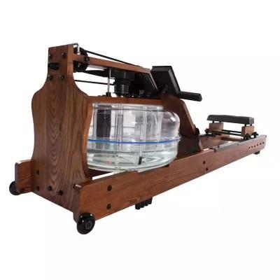 室内智能有氧划船器 水族电磁控折叠划船机 家用木质水阻划船机