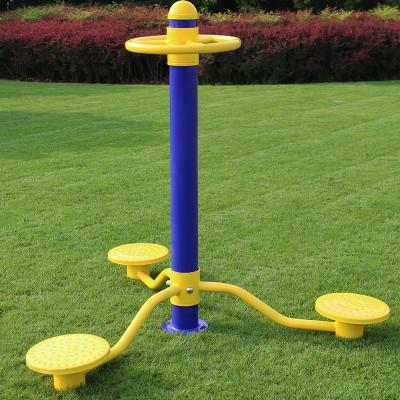 厂家直销户外小区公园健身路径三人扭腰器健身器材