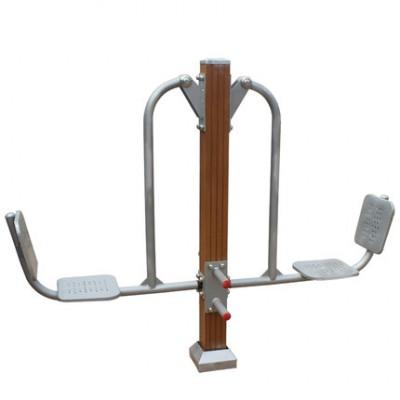 晟茂体育健身器材公园小区塑木坐蹬器健身路径厂家直销