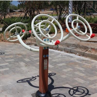 体育器材厂家直销公园健身路径塑木太极轮