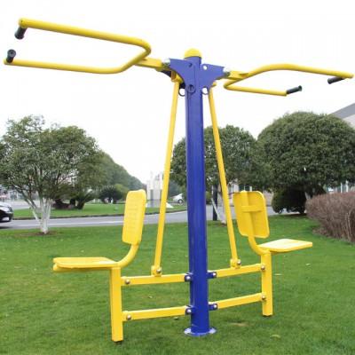 河南厂家直销公园小区健身器材双人坐拉新国标健身路径