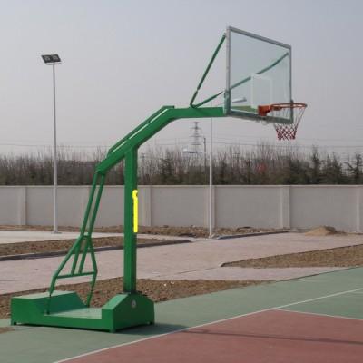 阿坝圆管篮球架现场施工