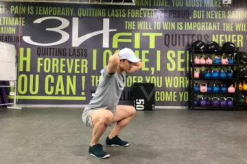 Kang Squat早安式和深蹲混合动作,后侧链训练动作
